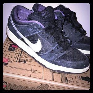NIKE DUNK LOW PRO black/ wolf grey-canyon purple